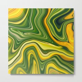 Sunny green marble Metal Print
