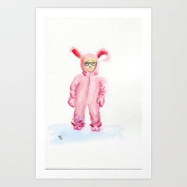 pink nightmare Art Print