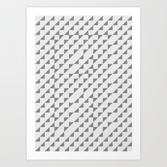 Typoptical Illusion A no.2 Art Print