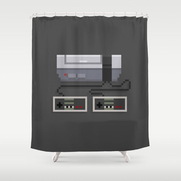 NES 8-Bit Console Shower Curtain