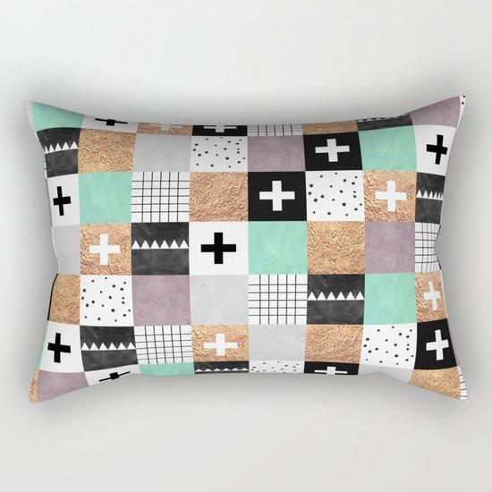 Squares 001 Rectangular Pillow