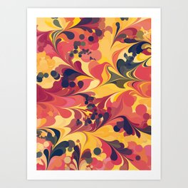 Flowers in the Wind 1 Art Print
