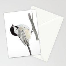 La Mésange à tête noire (Poecile atricapillus) Black-capped chickadee Stationery Cards