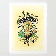 Clockwork parasite Art Print