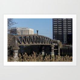 On top of the bridge Art Print