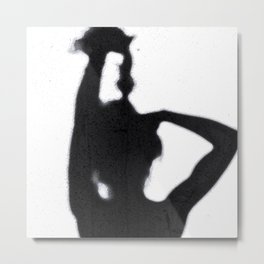 Shadow Hair Pulling Metal Print