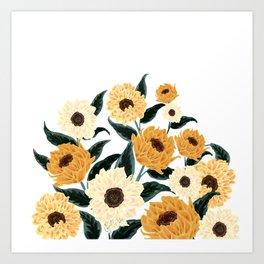 Many Sunflowers Art Print