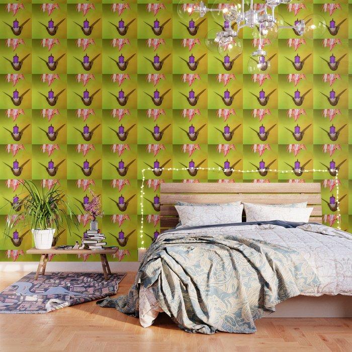 Hummingbird Seeks Flower (Color) Wallpaper