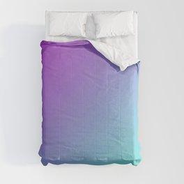 Dark Magenta Pink Purple and Light Cyan Aqua Blue Green Gradient Ombré Comforters