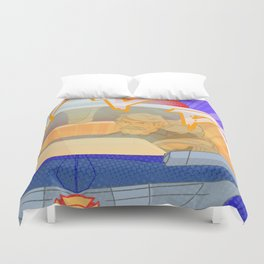 Chase and Chief Burns Burn Rubber Duvet Cover