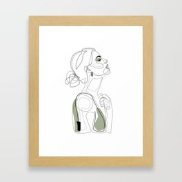 Olive Beauty Framed Art Print