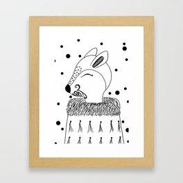 Miss Hata (black and white) Framed Art Print