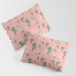 Alpaca with Cacti Pillow Sham