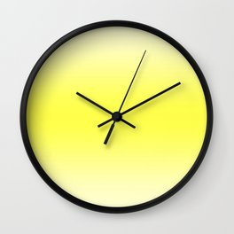 Pastel Yellow to Yellow Horizontal Bilinear Gradient Wall Clock