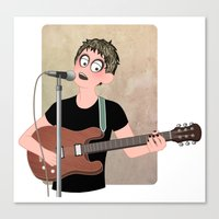 lou reed Canvas Prints featuring Lou Reed by Lili's Damn Fine Shop