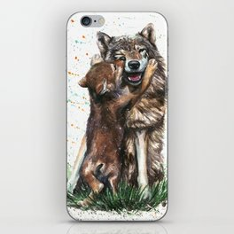 Wolf - Father and Son iPhone Skin