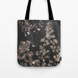 Black Maidenhair Tote Bag