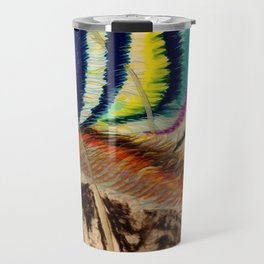 Abstract1 Oil Pastel  Travel Mug