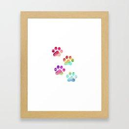 Paws print Framed Art Print
