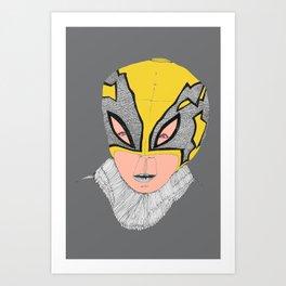 Little Lucha Libre  Art Print