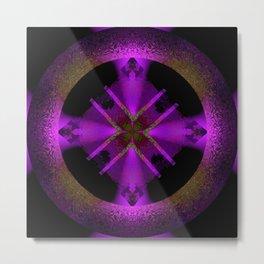 Spinning Wheel Hubcap in Purple Metal Print