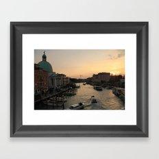 Sunset on Venice Framed Art Print