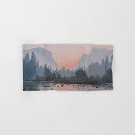 Yosemite Valley Sunrise Pretty Pink Hand & Bath Towel