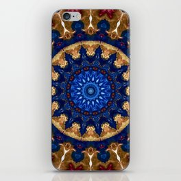 Royal Blue Gold Mandala Design iPhone Skin