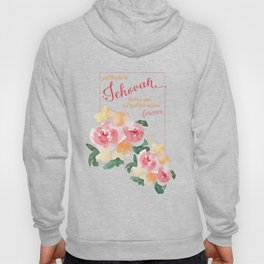 Psalm 136:1 with Peonies Hoody