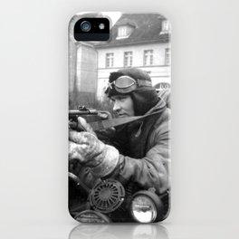WWII Soviet Soldiers PPsh machineguns motorcycle original iPhone Case
