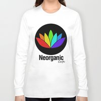 cafe Long Sleeve T-shirts featuring Neorganic Cafe by oldi