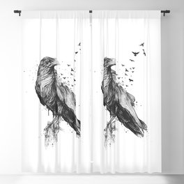 Born to be free (bw) Blackout Curtain