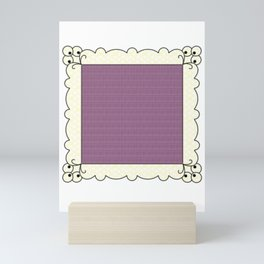 Squared Circle Pattern Handkerchief Mini Art Print