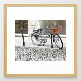 colonial bicycle Framed Art Print
