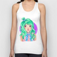 mint Tank Tops featuring Mint by Hetty's Art
