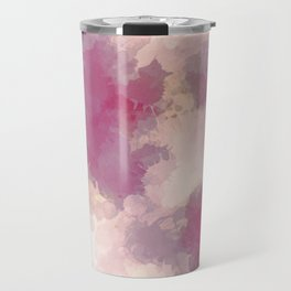 Mauve Dusk Abstract Cloud Design Travel Mug