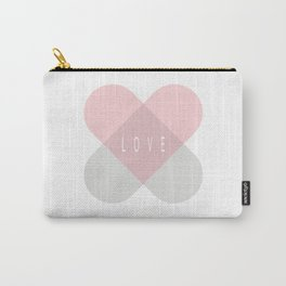 Healing Love Heart - Pink and Silver Carry-All Pouch