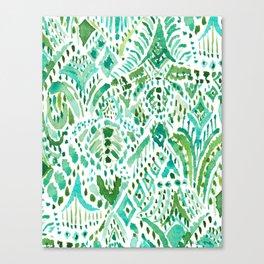 GETTIN' TURT Green Aqua Sea Turtle Tribal Canvas Print