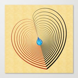 Out of the Blue -- an unbalanced heart Canvas Print