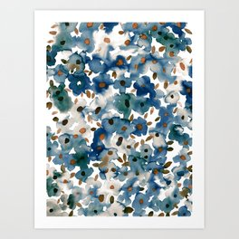 Georgia Floral Blue Art Print