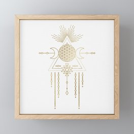 Golden Goddess Mandala Framed Mini Art Print