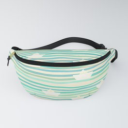 Whimsical Paper Boats Fanny Pack