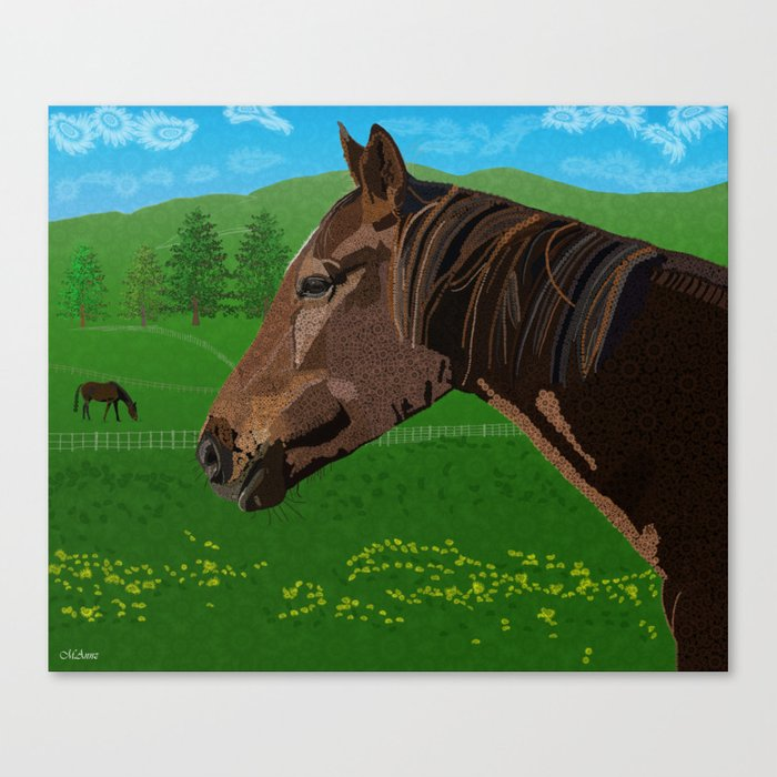 The Flower - The Horse  Canvas Print