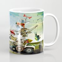 taxi driver Mugs featuring Driver by Ali GULEC