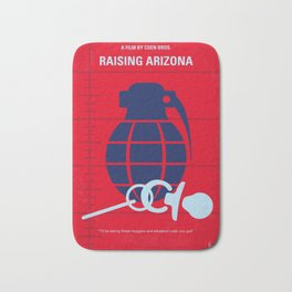 No477 My Raising Arizona minimal movie poster Bath Mat