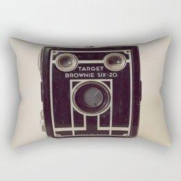Vintage Brownie Box Camera Rectangular Pillow