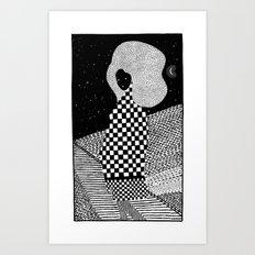 sleepless night Art Print