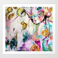 basel girl Art Print