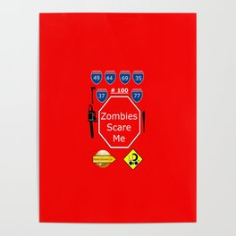Zombies Scare Me 100 Poster