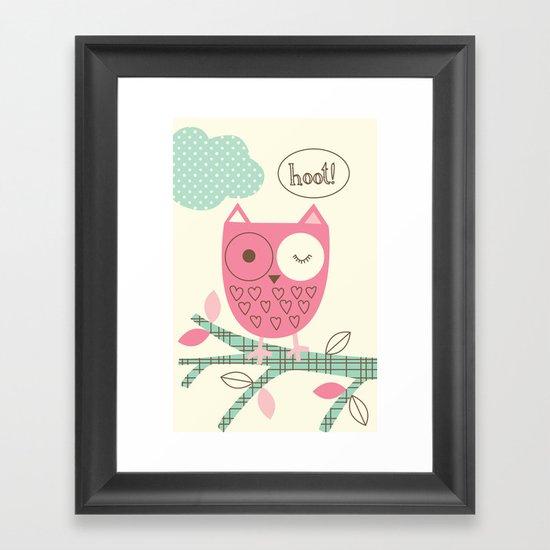 Hooty Owl Framed Art Print